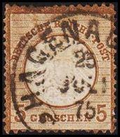 1872. DEUTSCHE REICHS-POST. Grossem Brustschild 5 GROSCHEN  (Michel 22) - JF320078 - Oblitérés