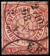 1868. NORDDEUTSCHER POSTBEZIRK.  1/4 GROSCHEN. () - JF320089 - North German Conf.
