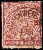 1868. NORDDEUTSCHER POSTBEZIRK.  1/4 GROSCHEN. () - JF320091 - North German Conf.