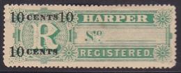 Liberia 1894 Registration Sc F7 Mint Hinged - Liberia
