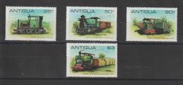 Antigua 1981 Trains Canne à Sucre 601-4 4 Val ** MNH - Antigua Et Barbuda (1981-...)