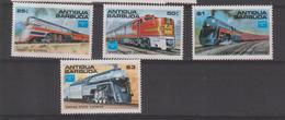 Antigua Et Barbuda 1986 Trains 912-15 4 Val ** MNH - Antigua And Barbuda (1981-...)