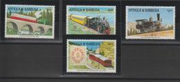 Antigua Et Barbuda 1991 Trains 1317-20 4 Val ** MNH - Antigua Und Barbuda (1981-...)