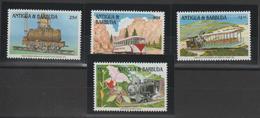 Antigua Et Barbuda 1991 Trains 1405-8 4 Val ** MNH - Antigua Und Barbuda (1981-...)