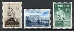 Belgique - Belgium - Belgien 1951 Y&T N°860 à 862 - Michel N°906 à 908 (o) - Monument Aux Prisonniers Politiques - Used Stamps