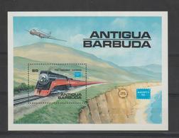 Antigua Et Barbuda 1986 Trains BF 110 ** MNH - Antigua Et Barbuda (1981-...)