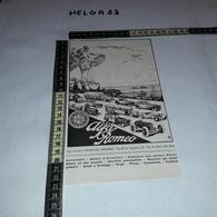 RT0661 PUBBLICITA' ALFA ROMEO AUTOMOBILI MOTORI D'AVIAZIONE AUTOCARRI CON MOTORE DIESEL ILLUSTRATA - Altri