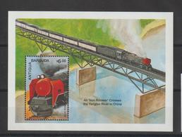 Antigua Et Barbuda 1991 Trains BF 326 ** MNH - Antigua Et Barbuda (1981-...)