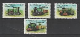 Barbuda 1981 Trains Canne à Sucre 503-6 4 Val ** MNH - Antigua Et Barbuda (1981-...)