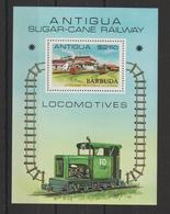 Barbuda 1981 Trains Canne à Sucre BF 54 ** MNH - Antigua Et Barbuda (1981-...)