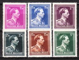 641/46**  Leopold III Col Ouvert - Série Complète - MNH** - COB 16.50 - Vendu à 12.50% Du COB!!!! - 1936-1957 Open Collar