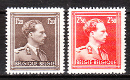 845/46**  Leopold III Col Ouvert - Série Complète - MNH** - COB 11.25 - Vendu à 12.50% Du COB!!!! - 1936-1957 Collar Abierto