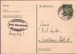 ! 2 Belege 1933-1934 Aus Spremberg, Niederlausitz - Entiers Postaux