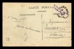 CACHET DU COMMISSAIRE MILITAIRE DE LA GARE DE MODANE (SAVOIE) - Marcophilie (Lettres)