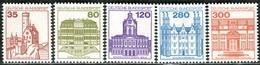 BRD - Mi 1139 A / 1143 A - ** Postfrisch (C) - 35-80-120-280-300Pf  Burgen Und Schlösser V - Unused Stamps