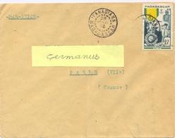 MADAGASCAR IFANADIANA TàD 28 AOUT 1953 – T.P. CENTENAIRE DE LA MEDAILLE MILITAIRE 15 F. YT 321 - Madagascar (1889-1960)