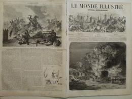 Le Monde Illustré 20 Juin 1857 10 Incendie à Versailles Pesth Hôtel De Ville Le Havre Vue De La Pompe Du Pont Notre Dame - Livres, BD, Revues