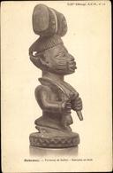 Cp Dahomey Benin, Porteuse De Ballot, Statuette En Bois - Kamerun