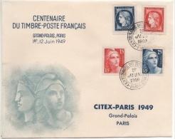 1949 - YT N° 830 à 833 - CITEX PARIS 1949 - FDC