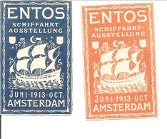 ENTOS 1913 AMSTERDAM. SCHIFFART AUSSTELLUNG 2x - Oude Documenten