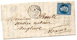 P.c.876 CLAMECY,sur N°14 I,L.A.C. Du 6/3/58. - 1849-1876: Classic Period