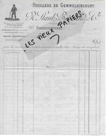 88 - Vosges - GEMMELAINCOURT - Facture STAUB & BERTRAND - Houillère - 0000 - REF 130B - France