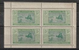 N° 20 En Bloc De 4 Issu D'un Carnet - Mauritania (1906-1944)