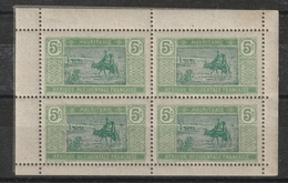 N° 20 En Bloc De 4 Issu D'un Carnet - Mauritanie (1906-1944)