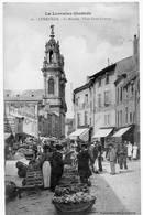 Lunéville Place Du Marché Très Animée Boutiques 1906 état Superbe - Luneville