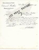 88 - Vosges - VILLE-SUR-ILLON - Facture MATHIS - Exploitations De Forêts - 1919 - REF 130B - France