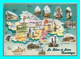 A778 / 003  71 - LA SAONE ET LOIRE Carte Géographique Multivues - France