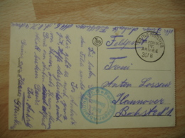 Wwi Yper Flieger Abtellung N 6 4 Eme Armee Deutsche Luftwaffe Armee Air Allemande Franchise Postale Feldpost - Militaria