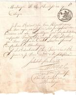 Papier Timbré De Dimension Département Conquis De DYLE - Revenue Stamps