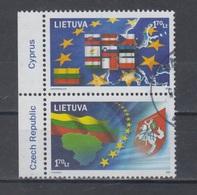 Lithuania 2004 Mi 844-5 Pair Used Europa United - Lituanie