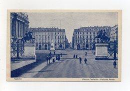 Torino - Piazza Castello E Palazzo Reale - Animata - Bel Timbro A Targhetta - Viaggiata Nel 1929 - (FDC19554) - Palazzo Reale