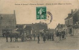Attelage De Diligence Depart Du Courrier Neuvy Sur Barangeon. - Taxi & Carrozzelle