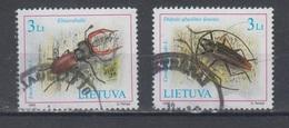 Lithuania 2003 Mi 819-20  Used Beetles - Lituanie