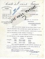 89 - Yonne - AUXERRE - Facture SOCIETE DES OCRES DE FRANCE - 1916 - REF 130B - 1900 – 1949