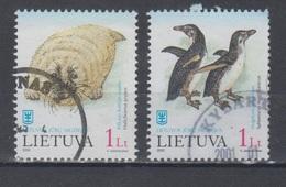 Lithuania 2000 Mi 733-4  Used Penguin,seal - Lithuania