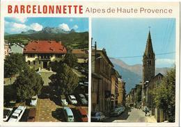 BARCELONNETTE - Vues - Voiture : Renault 4 L - Peugeot 404 - Citroen 2 CV - DS - - Barcelonnette