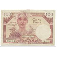France, 100 Francs, 1955-1963 Treasury, 1955, Undated (1955), TB+ - Treasury
