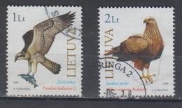 Lithuania 2000 Mi 731-2  Used Birds - Lithuania