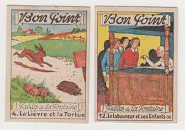 AC442 - Lot De 2 BON POINT - Fables De La Fontaine - Le Laboureur Et Ses Enfants - Lièvre Et La Tortue - Vieux Papiers