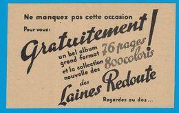 Mr LE GERANT FILATURES DE LA REDOUTE ROUBAIX NORD OCCASION GRATUITEMENT ALBUM 76 PAGES COLLECTION 800 COLORIS  LAINES - Publicités