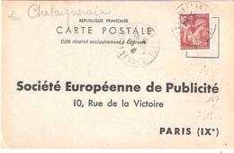 Vendée :-  LA CHATAIGNERAIE Dateur Type A4 Sur Attestation D'affichage - Marcophilie (Lettres)
