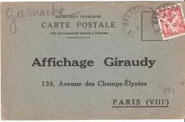 Vendée :-  GARNACHE Dateur Type A4 Sur Attestation D'affichage - Marcophilie (Lettres)