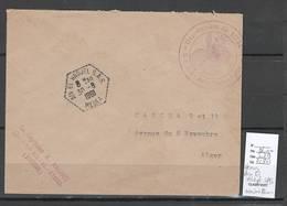Algerie -Lettre - Cachet Hexagonal AIN EL HADJEL SAS  + Cachet Administratif SAS - Marcophilie - Covers & Documents