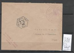Algerie -Lettre - Cachet Hexagonal AIN EL HADJEL SAS  + Cachet Administratif SAS - Marcophilie - Algeria (1924-1962)