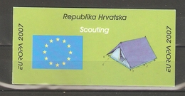 "2007 Croatia. Europa CEPT ""Scouts"" / Booklet ** - Croatia"