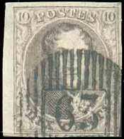 N°10A - Médaillon 10 Centimes Brun, Margé Et Bdf Gauche, Obl. D.63 WILLEBROECK Idéalement Apposée. - TB - 15066 - 1858-1862 Medaillen (9/12)